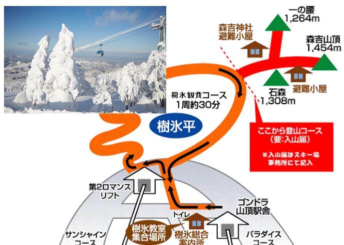 森吉山 樹氷鑑賞コース