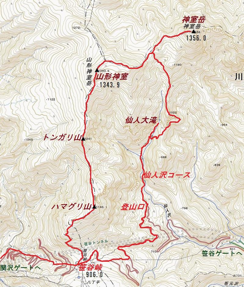 神室岳 コース