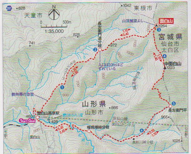 北面白山 MAP