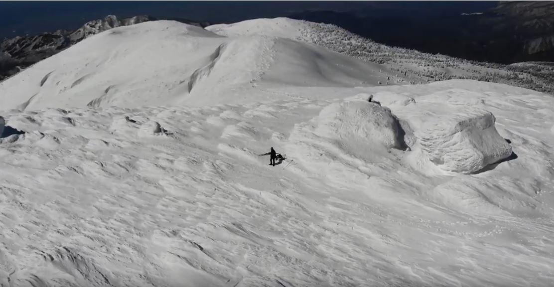 冬の熊野岳
